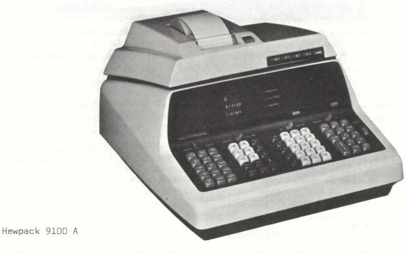 Product picture of the electronic desktop calculator Hewpack 9100 A, manufactured in the late 1960s