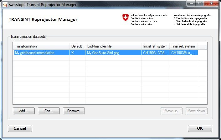 TRANSINT Reprojector Manager