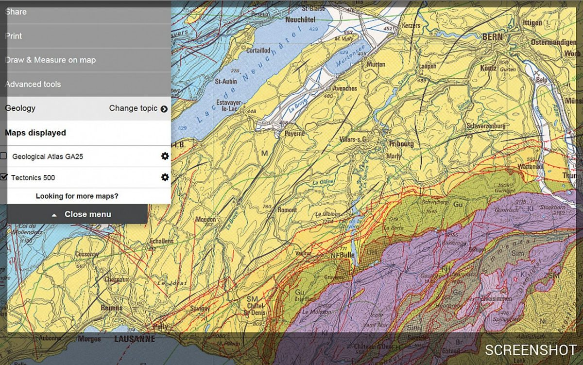 Geological maps and data online on