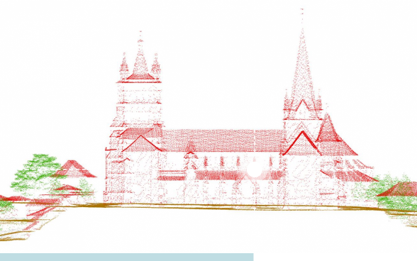 Classified point cloud of Lausanne Cathedral