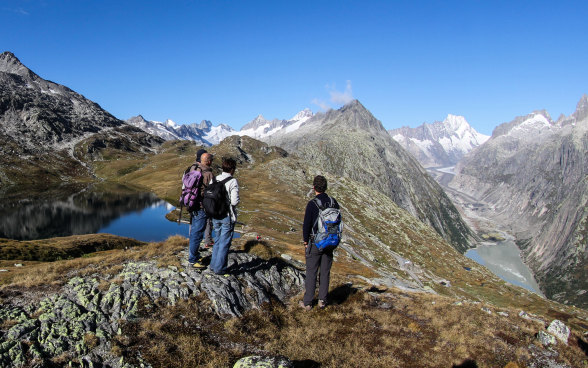 Geological excursion in the Grimsel area