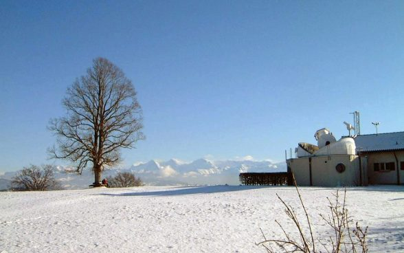 Zimmerwald geostation in winter