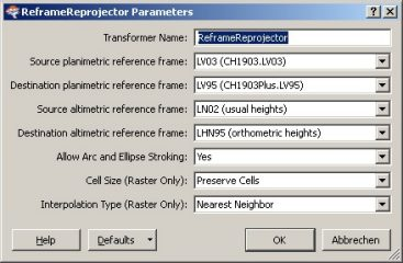 Paramètres du Transformer (version 2.0 FME 2010)