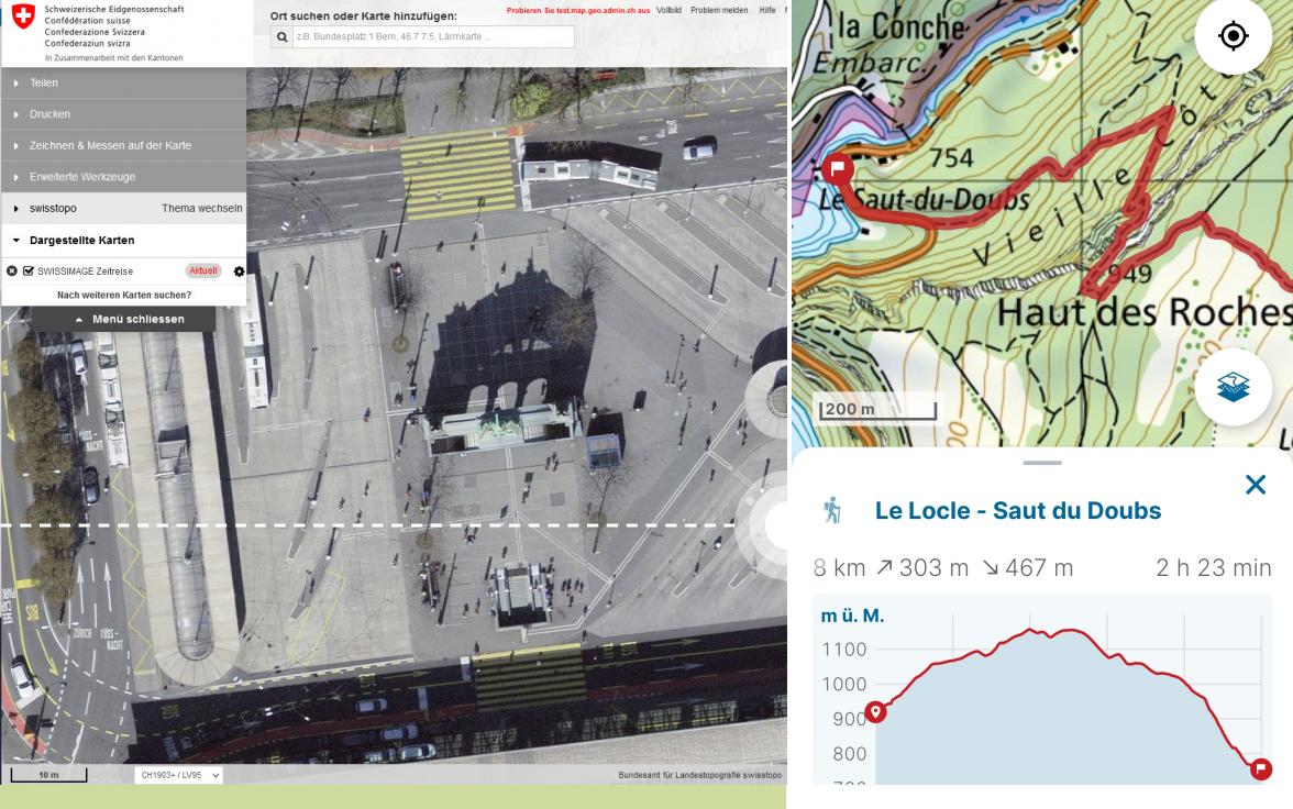 La Cartina Geografica Della Svizzera.Carte E Geodati Online